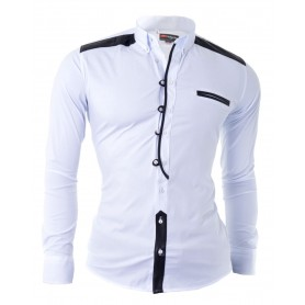 Shirt With Faux Leather Finishings  Casual and Formal Shirts