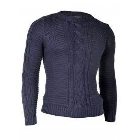 Crew Neck Sweater Cable Knit  Sweaters and Cardigans