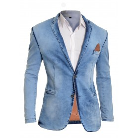 Mens Blue Denim Blazer Casual Look Slim Fit  Blazers