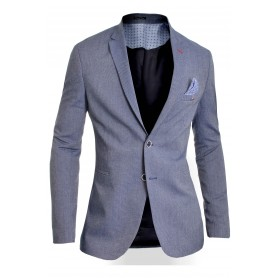 Men's Classic Blazer Jacket Blue Casual Business Red Finish Slim Fit Soft Cotton  Blazers